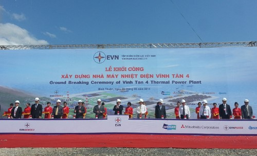 Beginning the construction of Vinh Tan 4 Thermal power Plant